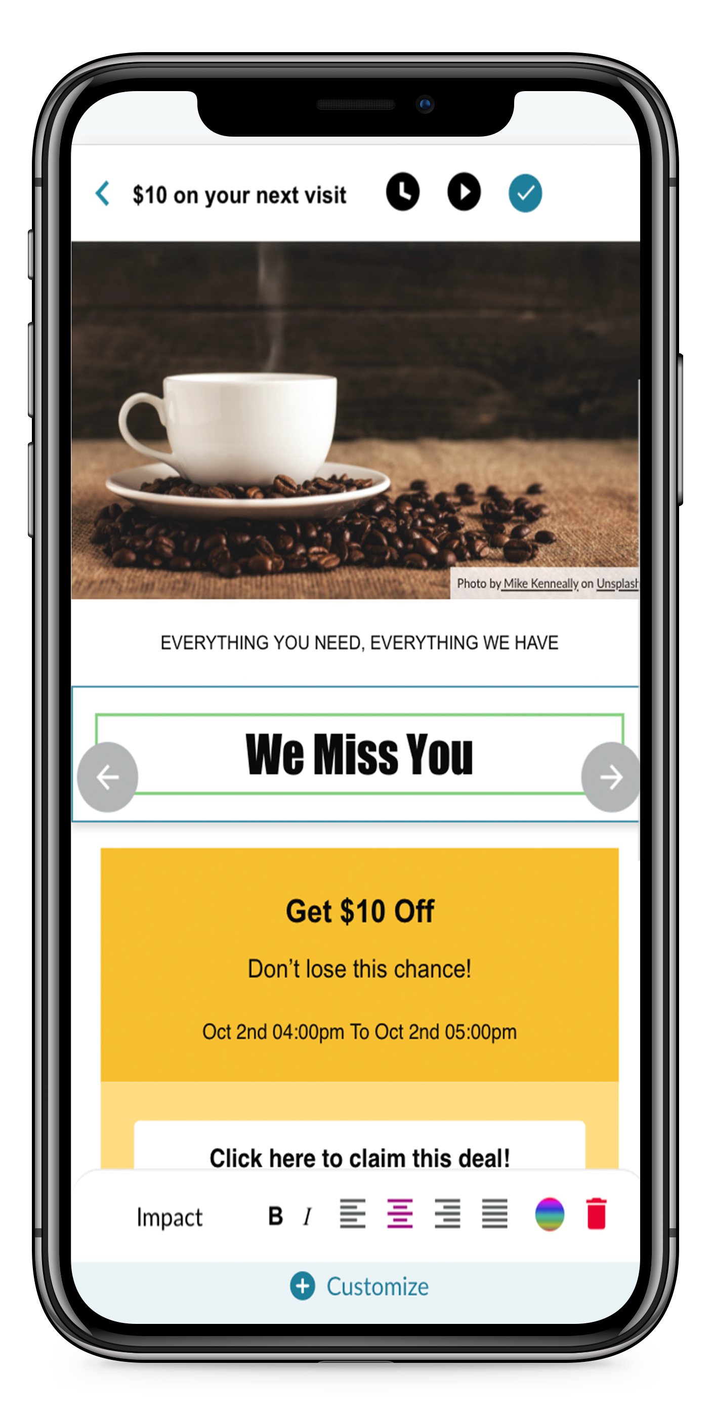 Marketing Email On Mobile